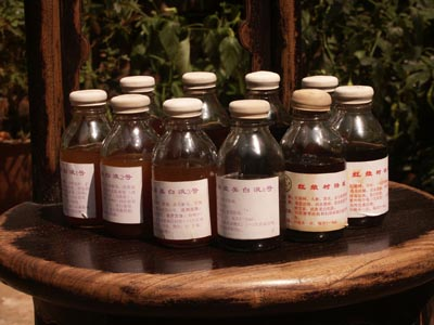Skin treatment with herbal chinese medicine against acne